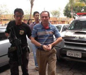 OPERAÇÃO RAPINA O ex-prefeito de São Luís Gonzaga do Maranhão, 'Gonzaguinha' Fortes, quando foi preso pela Polícia Federal.