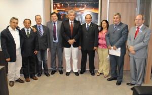 Halum, Vicentinho e prefeitos em audiência com o secretário-executivo