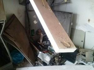 Como ficou caixa eletrônico depois da explosão