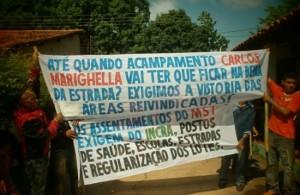 Trabalhadores rurais do Movimento dos Sem-Terra (MST)