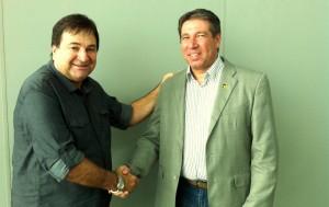 Deputado federal César Halum (PRB), visitou recentemente o superintendente da Pesca do Estado do Tocantins, Guilherme Burns
