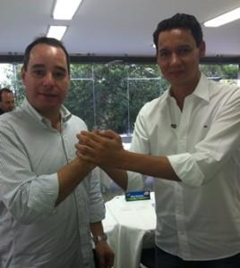 Júnior Luiz (dir) com o Presidente Nacional do PTdoB,