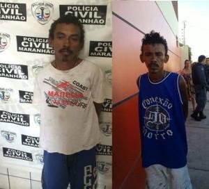 Antônio José Gomes de Sousa (à esquerda) já teria uma rixa antiga com a vítima; e José Raimundo Gomes de Sousa (à direita) foi baleado na perna pelo policial.