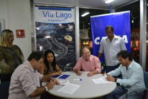 Dimas e Halum assinam contrato com a Caixa para início das obras da Via Lago