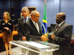 Conselheiro Wagner Praxedes (TCE), e  Ministro(CNJ) Joaquim Barbosa
