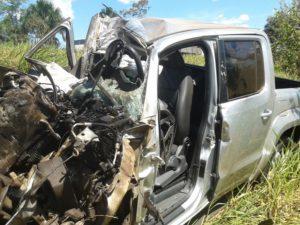 motorista da camionete morreu no local, foto: reprodução tv anahnguera