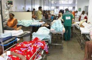 Ortopedia: há aproximadamente 60 pacientes internados, sendo que 10 aguardam cirurgia por falta de material
