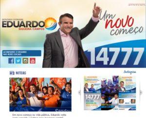 Plataformas de interatividade são destaque do site de Eduardo Siqueira Campos