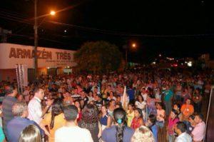 Wanderlei Barbosa participou de um animado comício, com grande vibração popular