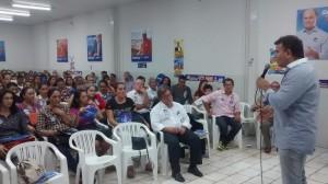 Eduardo Siqueira Campos fala a servidores públicos do Estado: experiência, conhecimento e diálogo com a categoria