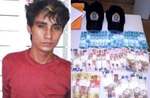 Leomar teria repassado o dinheiro falso para duas vítimas