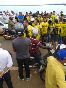 Bloqueio da Ponte FHC, nesta quarta-feira, 11 de março, em Palmas
