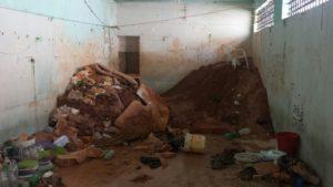 Quantidade de terra que presos conseguiram tirar da CPPP p ara cabar o túnel