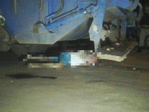 Motociclista foi esmagado por caminhão de limpeza urbana (Foto: Luís Ernandes/ Divulgação)