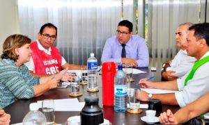 A equipe do Governo recebeu representantes dos sindicatos dos servidores da Saúde na manhã desta segunda-feira