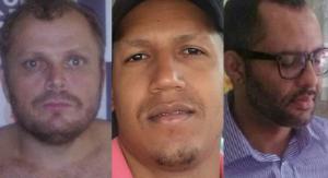 Antonio, Fabrício e Estevão são acusados de homicídio, formação de quadrilha, furto e ocultação de cadáver