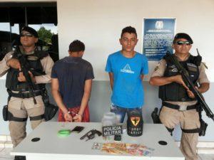 Dupla foi preso após roubar casa lotérica em Nazaré