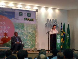 Kátia Abreu falou, em Goiânia, que já conversou com a diretoria do Banco do Brasil sobre o assunto