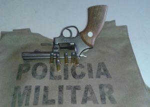 Arma apreendida em Aragominas