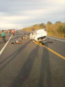 foto do acidente enviada a nossa redação
