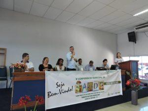 O Prefeito Neto Lno discursou na Conferência Municipal de Saúde