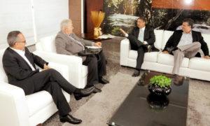 Durante reunião com representantes do Grupo Energisa, governador destacou importância do setor para o desenvolvimento do Estado