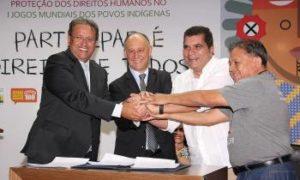 Assinatura do Termo de Adesão à Agenda de Convergência para Proteção dos Direitos Humanos nos Jogos Mundiais dos Povos Indígenas