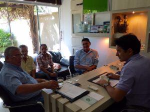 A reuniao ocorreu em Palmas, na casa de Marcelo Lélis