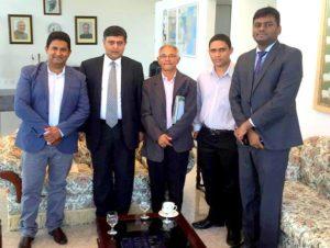 Diretores do Grupo EXP em Brasília com embaixador da Índia Sunil Lal