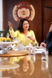 A ministra da Agricultura, Kátia Abreu , em entrevista no ministério da agricultura