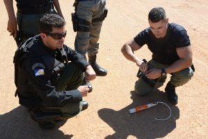 Agentes do GOTE participam de treinamento de tiro, granada e explosivos