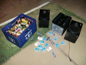 Material apreendido com acusados de furto em Colinas