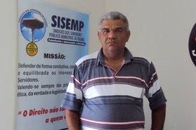 Candidato à reeleição pela chapa 01, Carlos Augusto M. de Oliveira (Carlão)