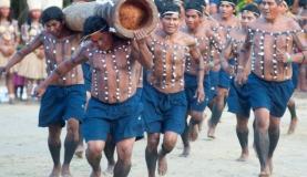 A Corrida da Tora é uma das modalidades dos Jogos Indígenas