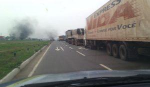 Protesto de caminhoneiros em Colinas-TO