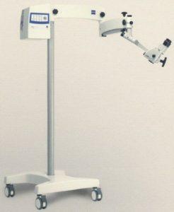 Microscópio é importado, do modelo OPMI e marca Carl Zeiss.