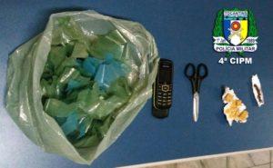 Material apreendido com traficante na cidade de Araguatins