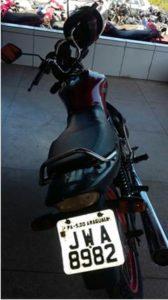 PM recupera motocicleta em Nova Olinda.