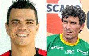 À esquerda André Leonel e à direita Lourival