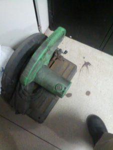 Máquina policorte apreendida com acusado de furto