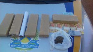 Droga apreendida na residência de acusada de tráfico de  drogas em Palmas