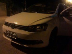 Veículo utilizado por criminosos durante roubo em Miracema
