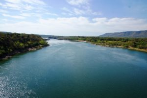 Rio Tocantins em Miracem, 2012, antes da seca. Foto: Elpídio Justino