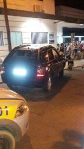 Veículo roubado que foi recuperado pela PM