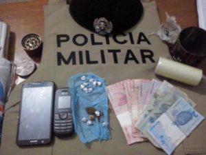 Material apreendido com traficante de drogas em Miranorte.