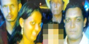 O homem à direita e o homem à esquerda foram executados e a mulher e criança sobreviveram/Foto:Balanço Geral/Deon Alves