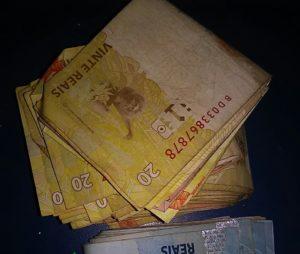 Dinheiro recuperado por PM em Augustinópolis