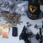 Dois suspeitos são presos por roubo a estabelecimento comercial com reféns em Araguaína