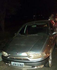 Veículo apreendido em poder de suspeitos de roubo na capital