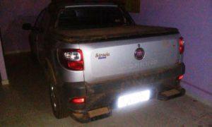 Veículo recuperado pela PM foi encontrado em residência